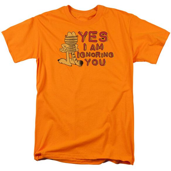 Garfield Yes I Am Short Sleeve Adult Orange T-Shirt