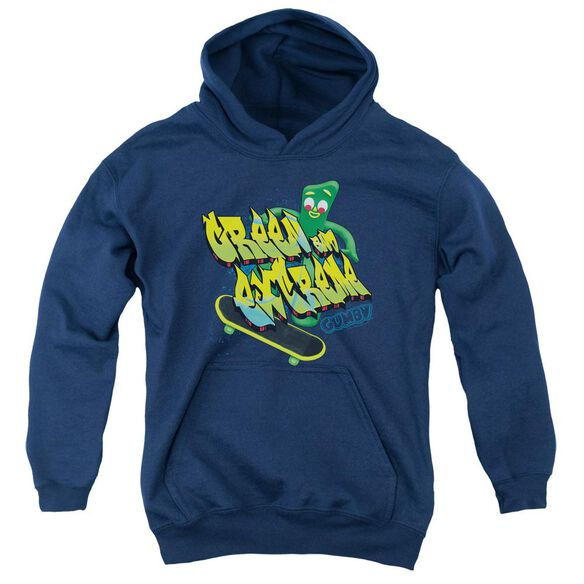 Gumby Green And Extreme Youth Pull Over Hoodie