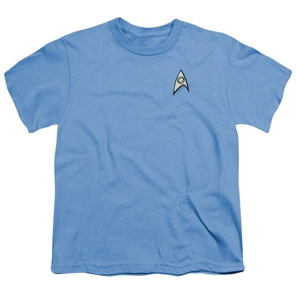 Star Trek Science Uniform Short Sleeve Youth Carolina T-Shirt