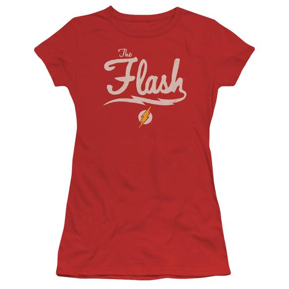 Jla Old School Flash Short Sleeve Junior Sheer T-Shirt