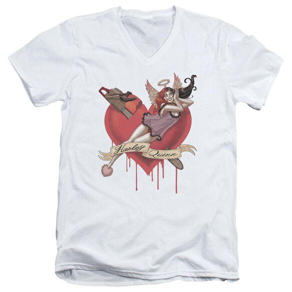 Batman Perfect Angel Short Sleeve Adult V Neck T-Shirt