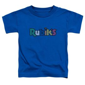 Rubik's Cube Smudge Logo Short Sleeve Toddler Tee Royal Blue T-Shirt