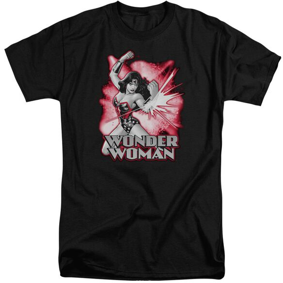 Jla Wonder Woman Red & Gray Short Sleeve Adult Tall T-Shirt