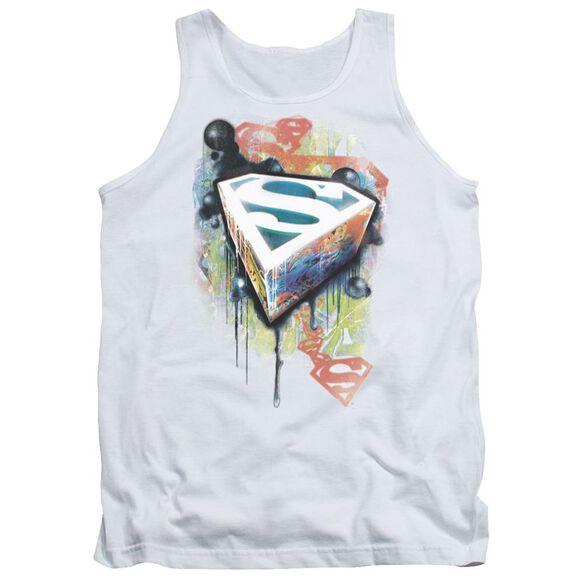 Superman Urban Shields - Adult Tank - White