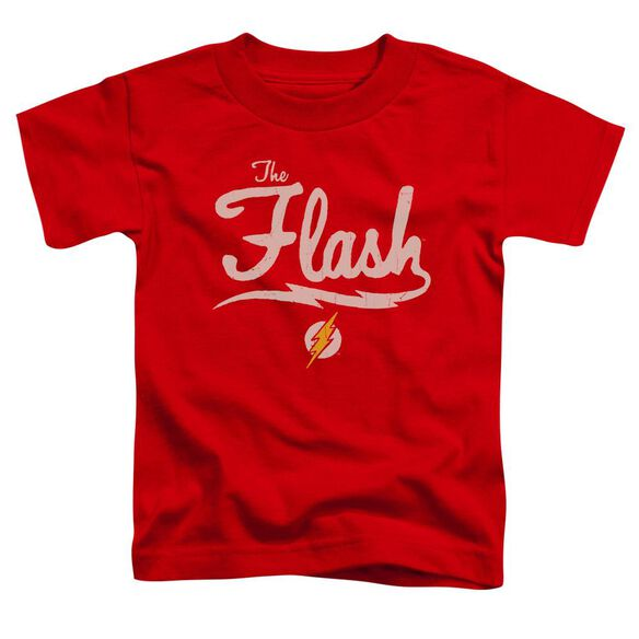 Jla Old School Flash Short Sleeve Toddler Tee Red T-Shirt