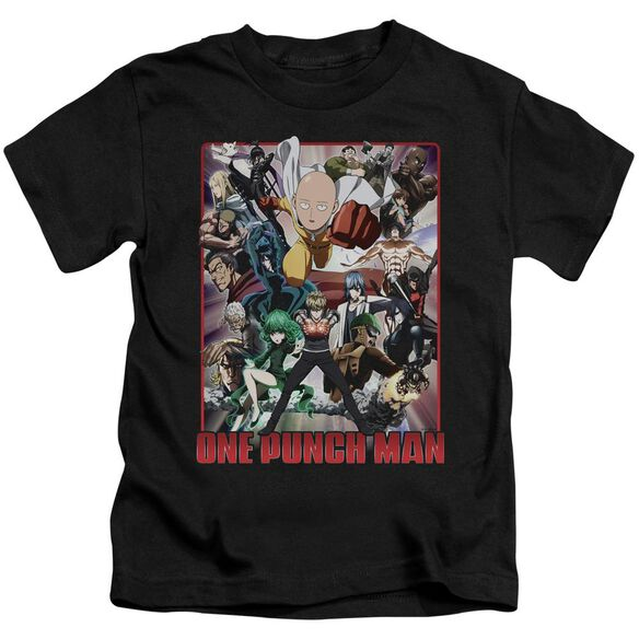 One Punch Man Cast Of Characters Short Sleeve Juvenile Black T-Shirt