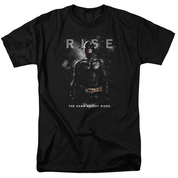 Dark Knight Rises Batman Rise Short Sleeve Adult Black T-Shirt