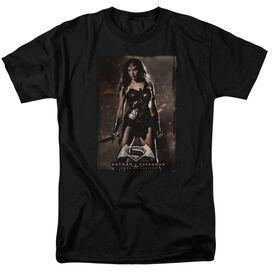 Batman V Superman Ww Poster Short Sleeve Adult Black T-Shirt