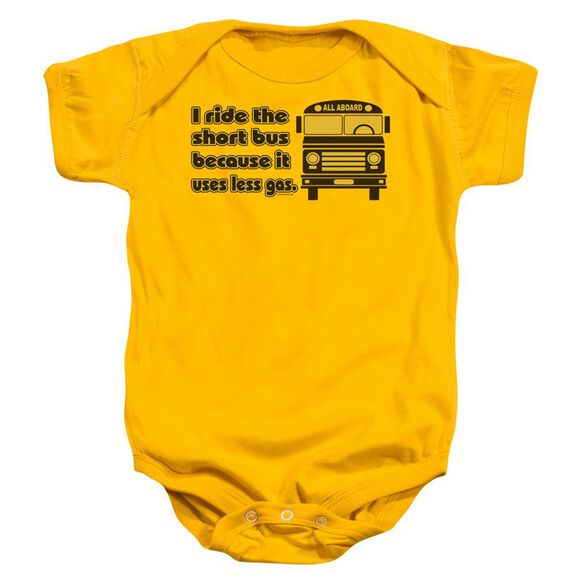 Short Bus Infant Snapsuit Gold