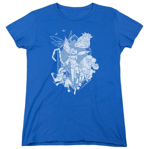 Rise Of The Guardians Coming For You Short Sleeve Womens Tee Royal T-Shirt