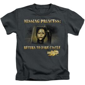 Mirrormask Missing Princess Short Sleeve Juvenile Charcoal T-Shirt