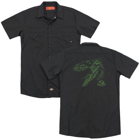 Jurassic Park Raptor Mount (Back Print) Adult Work Shirt