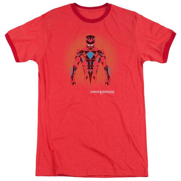 Power Rangers Red Power Ranger Graphic Adult Ringer Red