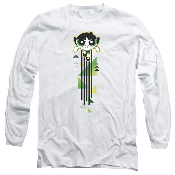 Powerpuff Girls Buttercup Streak Long Sleeve Adult T-Shirt