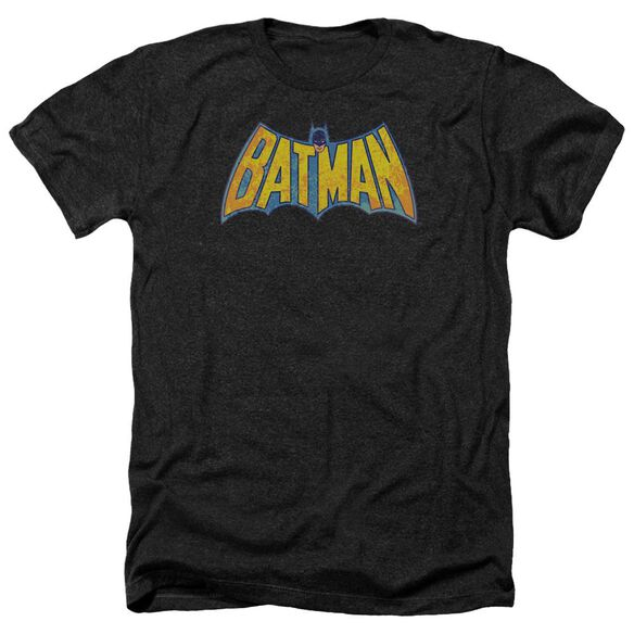 Dco Batman Neon Distress Logo Adult Heather