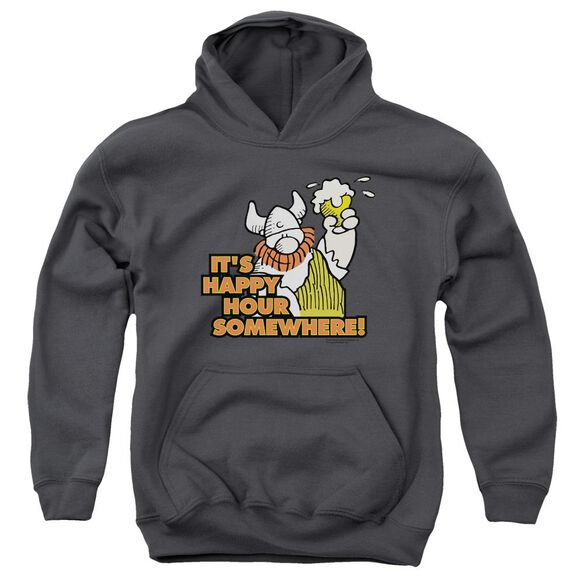 Hagar The Horrible Happy Hour Youth Pull Over Hoodie