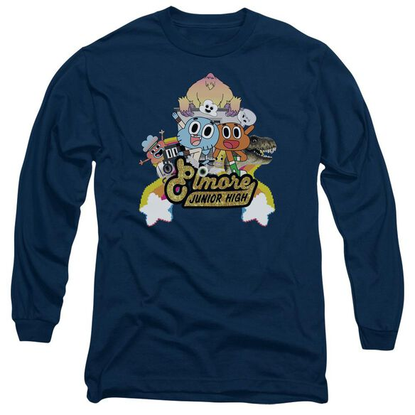 Amazing World Of Gumball Elmore Junior High Long Sleeve Adult T-Shirt