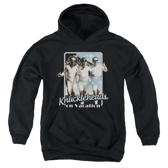 Three Stooges Knucklesheads On Vacation Youth Pull Over Hoodie