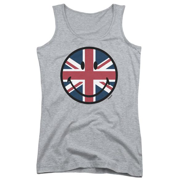 Smiley World Union Jack Face Juniors Tank Top Athletic