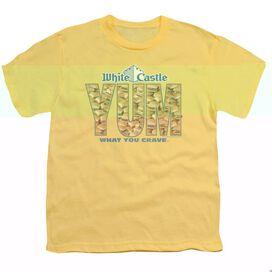 WHITE CASTLE YUM - S/S YOUTH 18/1 - BANANA T-Shirt