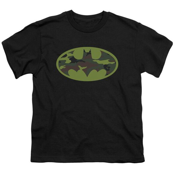 Batman Camo Logo Short Sleeve Youth T-Shirt