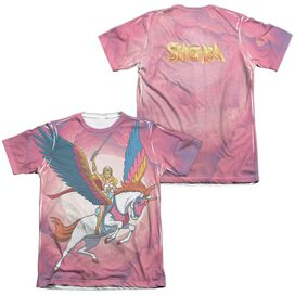 She Ra Sky Power (Front Back Print) Adult Poly Cotton Short Sleeve Tee T-Shirt