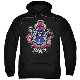 Teen Titans Go Raven Adult Pull Over Hoodie