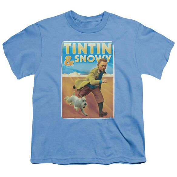 Tintin Tintin & Snowy Short Sleeve Youth Carolina T-Shirt