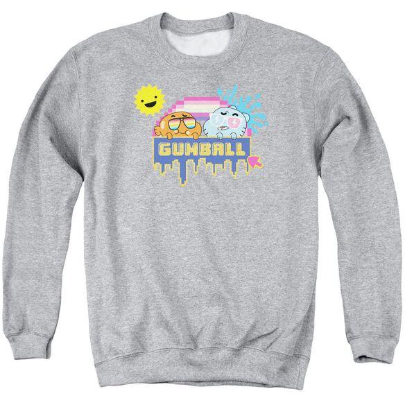 Amazing World Of Gumball Sunshine Adult Crewneck Sweatshirt Athletic