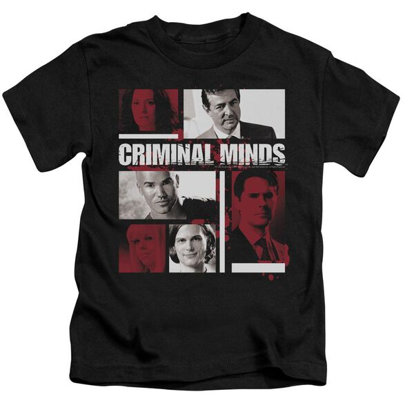 Criminal Minds Character Boxes Short Sleeve Juvenile Black Md T-Shirt