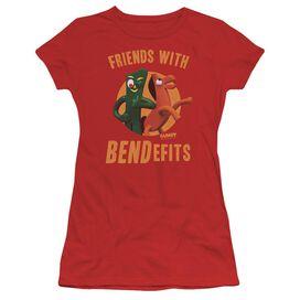 Gumby Bendefits Short Sleeve Junior Sheer T-Shirt