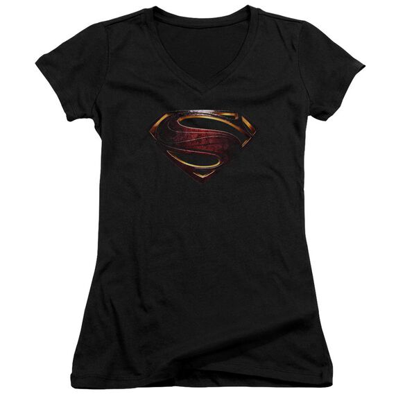 Justice League Movie Superman Logo Junior V Neck T-Shirt