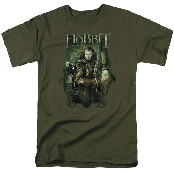 Hobbit Thorin And Company Short Sleeve Adult Military Green T-Shirt