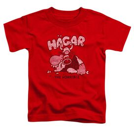 Hagar The Horrible Hagar Gulp Short Sleeve Toddler Tee Red T-Shirt
