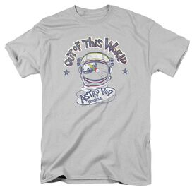 Astro Pop Out Of The World Short Sleeve Adult Silver T-Shirt