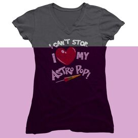 Astro Pop I Heart Junior V Neck T-Shirt