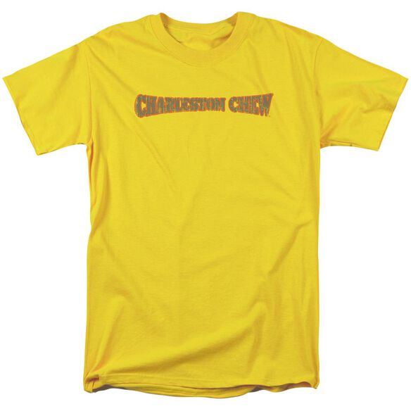 Tootsie Roll Charleston Chew Logo Short Sleeve Adult Yellow T-Shirt