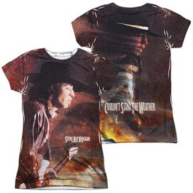 Stevie Ray Vaughan Weather (Front Back Print) Short Sleeve Junior Poly Crew T-Shirt
