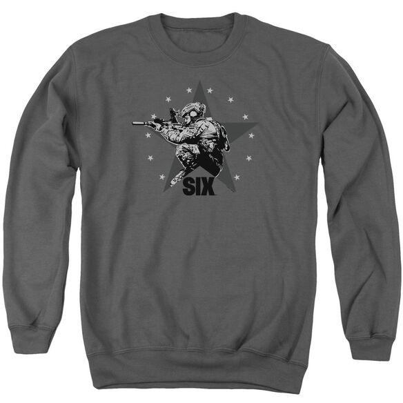 Six Star Shooter Adult Crewneck Sweatshirt