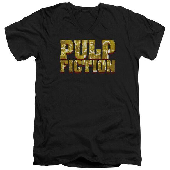 Pulp Fiction Pulp Logo Short Sleeve Adult V Neck T-Shirt