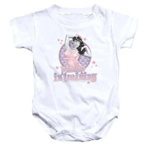 Bettie Page Pin Up In Training Infant Snapsuit White Xl
