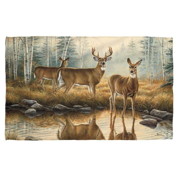 Wild Wings Autumn Reflections 2 Face Hand Towel