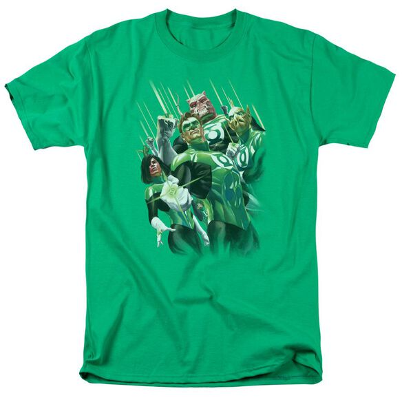 Gl Power Of The Rings Short Sleeve Adult Kelly Green T-Shirt