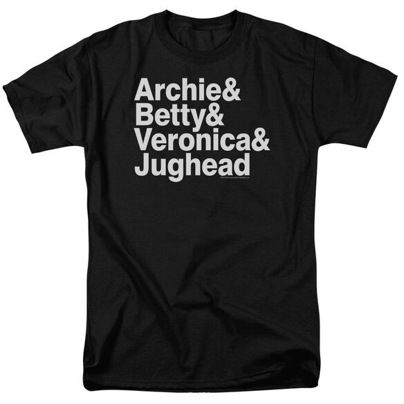 Archie Comics Ampersand List Short Sleeve Adult T-Shirt