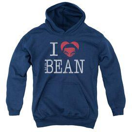 Mr Bean I Heart Mr Bean Youth Pull Over Hoodie
