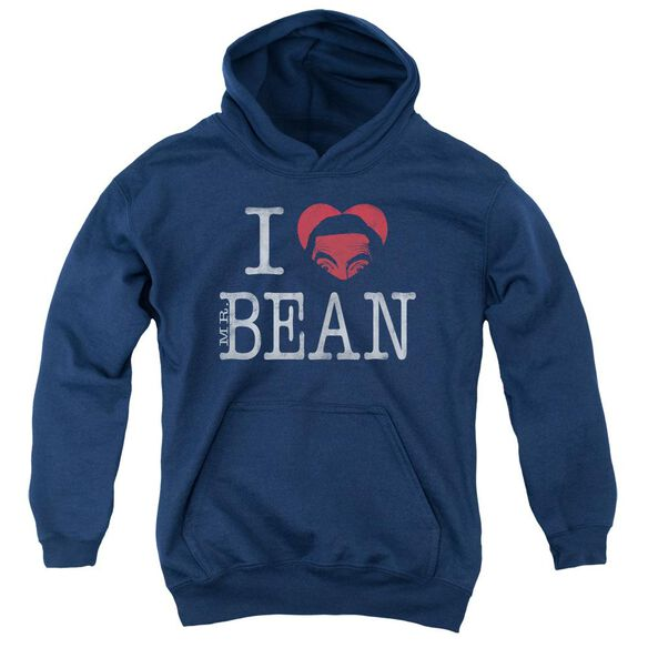 Mr Bean I Heart Mr Bean Youth Pull Over Hoodie