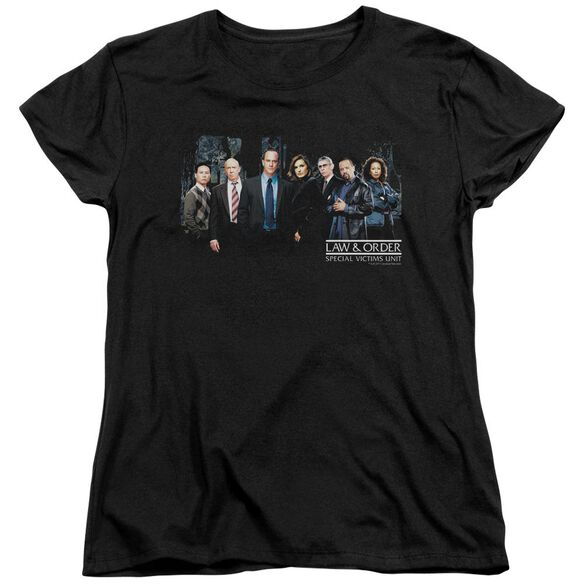 Law And Order Svu Cast Short Sleeve Womens Tee Black T-Shirt