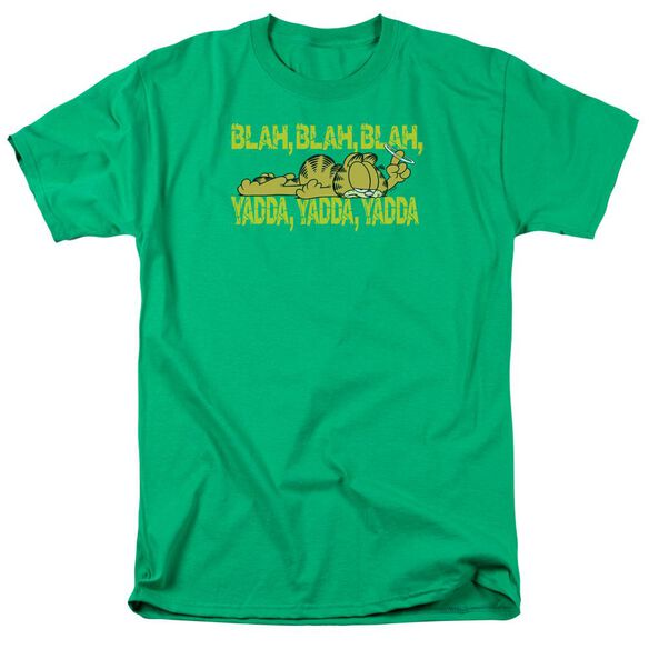 Garfield Blah Blah Blah Short Sleeve Adult Kelly T-Shirt