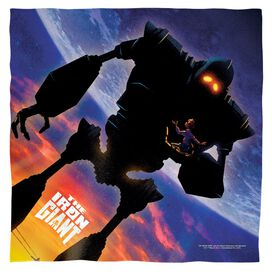 Iron Giant Poster Bandana White