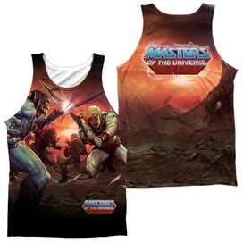 Masters Of The Universe Battle (Front Back Print) Adult 100% Poly Tank Top
